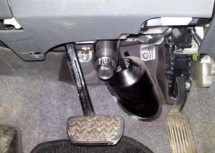 Механический блокиратор рулевого вала: виды, установка своими руками и видео о блокировке с отзывами (гарант, перехват и другие)