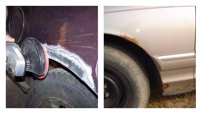Как убрать ржавчину с кузова автомобиля своими руками с покраской и без