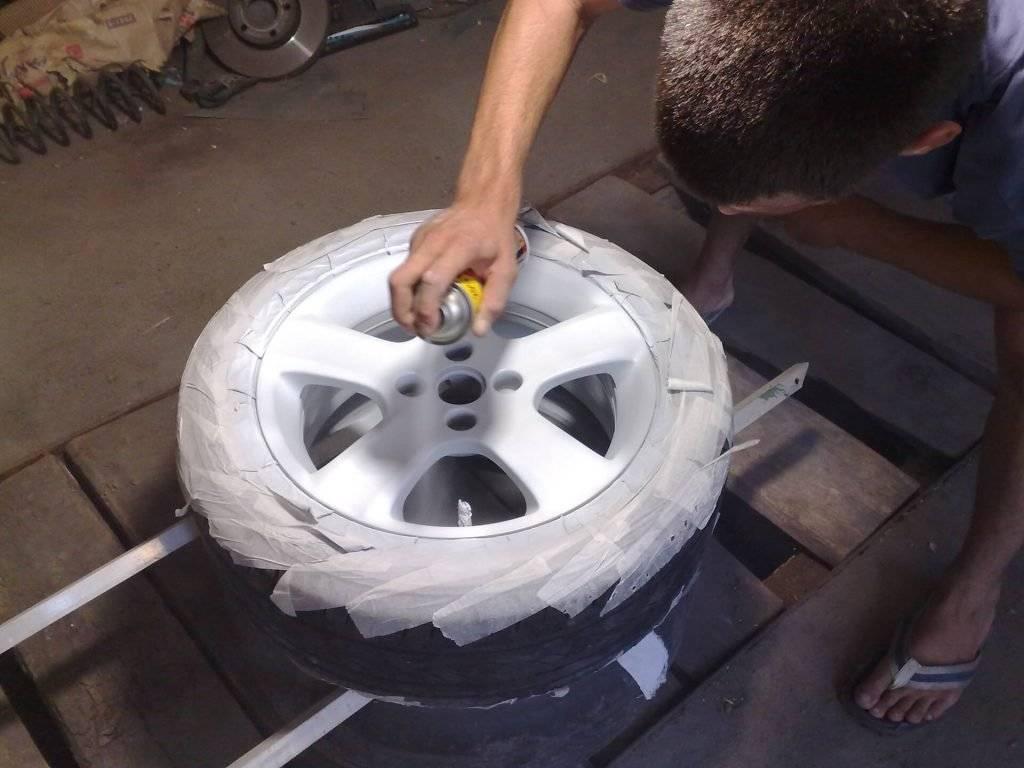 Покраска штампованных дисков - старых и новых, самостоятельно своими руками