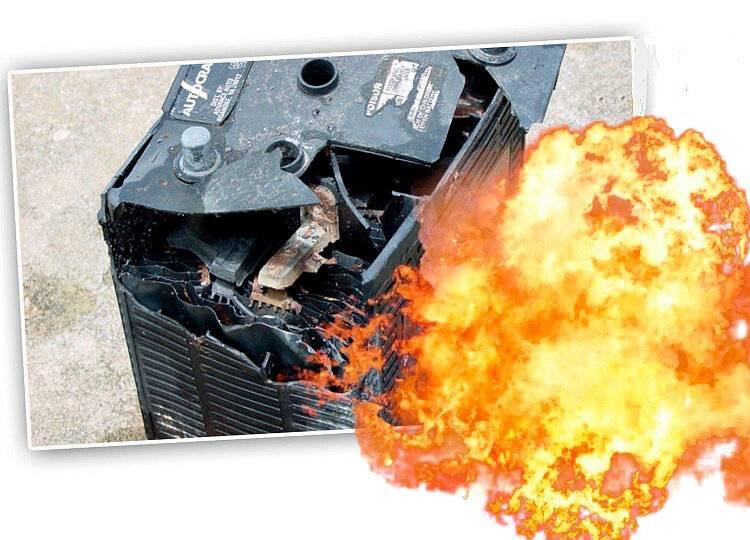 Взрыв аккумулятора - почему взрываются аккумуляторы