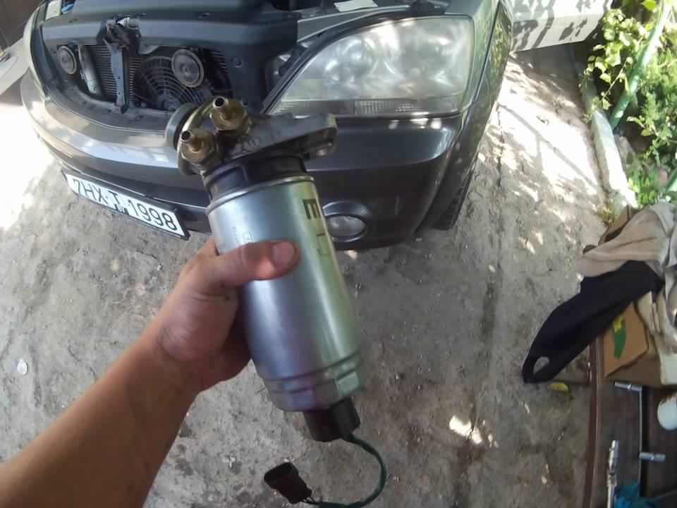 Замена топливного фильтра киа соренто: инструкция