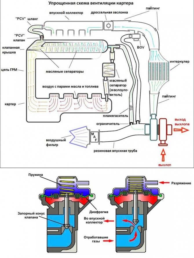 Как проверить вентиляцию картерных газов   avtoskill.ru