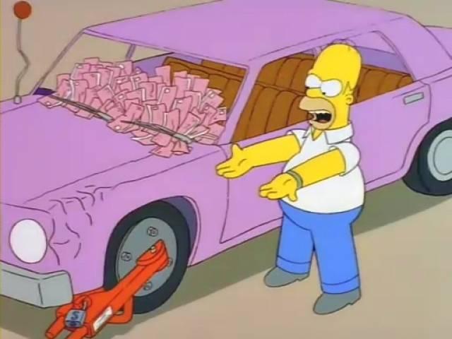 Реальные прототипы машин из «симпсонов»&nbsp. cимпсономания: пять жутких автомобилей, которые мог придумать только гомер симпсон в какой серии гомер сидит на машине