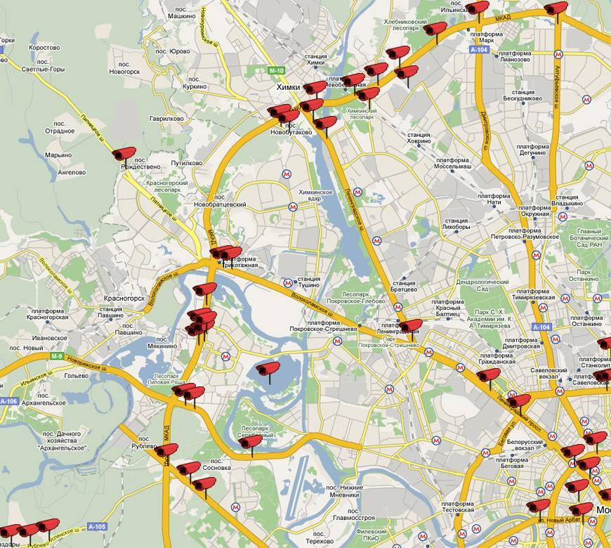 Карта радаров и камер видеофиксации в белгородской области